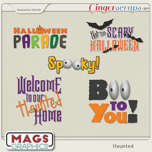 Haunted WORD ART by MagsGraphics