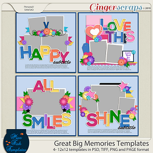 Great Big Memories Templates by Miss Fish