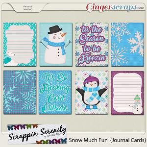 Snow Much Fun Journal Cards
