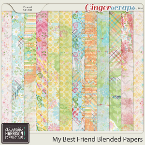 My Best Friend Blended Papers by Aimee Harrison