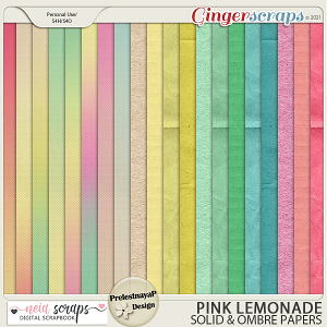Pink Lemonade - Solid & Ombre Papers - by Neia Scraps & PrelestnayaP Design