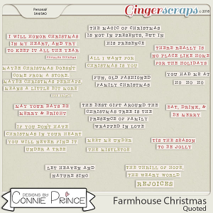 Farmhouse Christmas - Quoted by Connie Prince