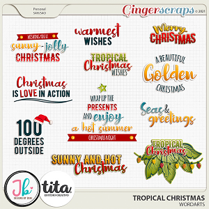 Tropical Christmas Wordarts by JB Studio and Tita