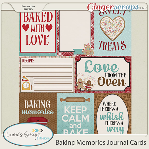 Baking Memories Journal Cards