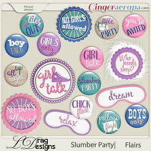 Slumber Party: Flairs by LDragDesigns
