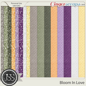 Bloom In Love 12x12 Glitter Papers