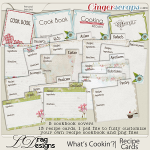 What's Cookin'?: Recipe Cards by LDragDesigns