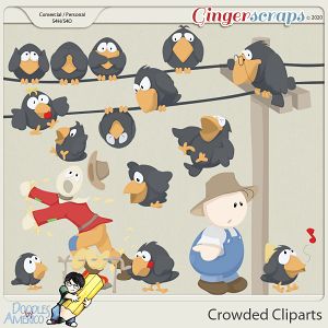 Doodles By Americo: Crowded Cliparts