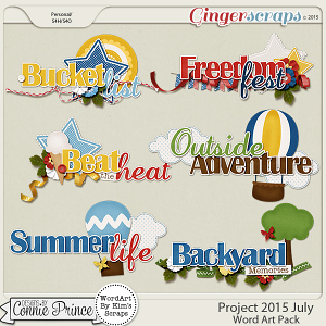 Project 2015 July - WordArt Pack
