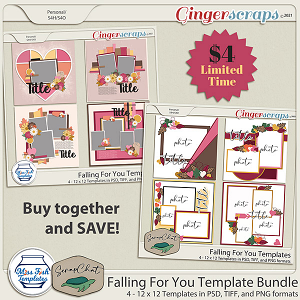 Falling For You Template Bundle by Miss Fish and ScrapChat