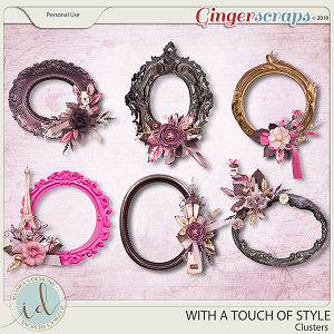 With A Touch Of Style Clusters by Ilonka's Designs