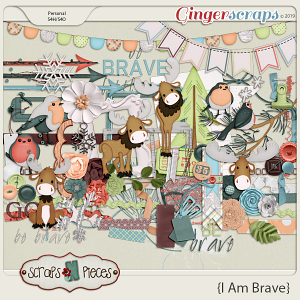 I am Brave embellishments by Scraps N Pieces