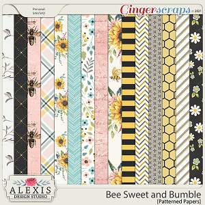 Bee Sweet and Bumble - Patterned Papers