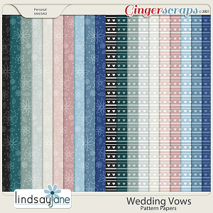 Wedding Vows Pattern Papers by Lindsay Jane