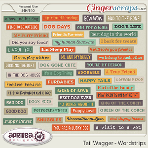 Tail Wagger - Wordstrips