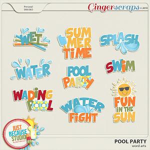 Pool Party Word Arts by JB Studio