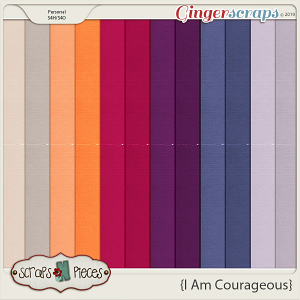 I Am Courageous Cardstocks by Scraps N Pieces