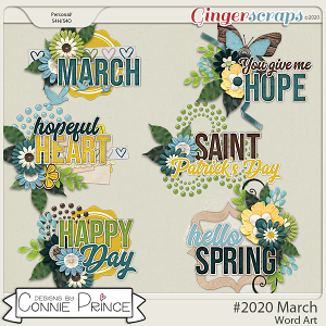 #2020 March - Word Art Pack by Connie Prince