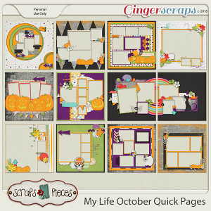 My Life - October Quick Pages by Scraps N Pieces