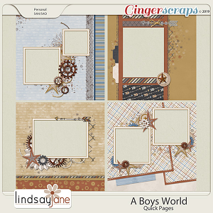 A Boys World Quick Pages by Lindsay Jane