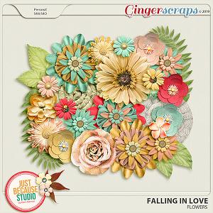 Falling In Love Flowers by JB Studio