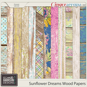 Sunflower Dreams Wood Papers by Aimee Harrison
