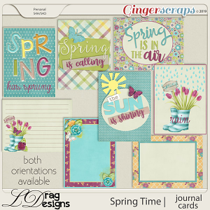Spring Time: Journal Cards by LDragDesigns