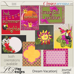 Dream Vacation: Journal Cards by LDragDesigns