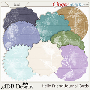 Hello Friend Journal Cards by ADB Designs