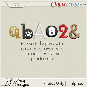 Pirates Only: Alphas by LDragDesigns
