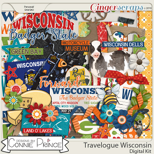 Travelogue Wisconsin - Kit by Connie Prince
