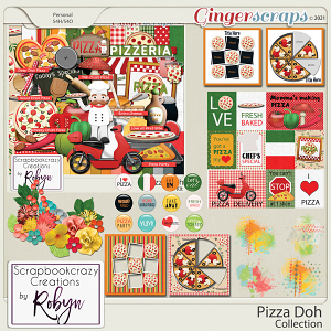 Pizza Doh Collection by Scrapbookcrazy Creations