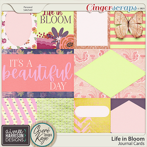 Life in Bloom Journal Cards by Aimee Harrison and Chere Kaye Designs