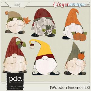 Polka Dot Chicks: Wooden Gnomes #8