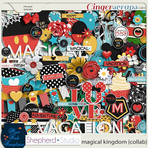 Magical Kingdom Digital Scrapbooking Kit by Miss Fish and Shepherd Studios