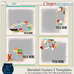 Blended Clusters 5 Templates by Miss Fish