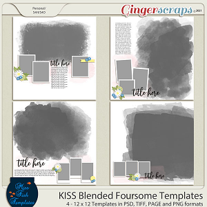 KISS- Blended Foursome Templates by Miss Fish