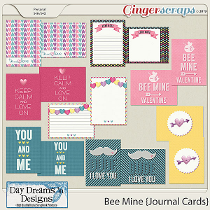 Bee Mine {Journal Cards} by Day Dreams 'n Designs
