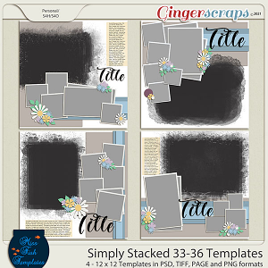 Simply Stacked 33-36 Templates by Miss Fish