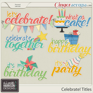 Celebrate Titles by Aimee Harrison