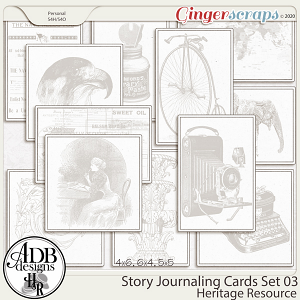 Heritage Resource Story Journaling Cards Set 03 by ADB Designs