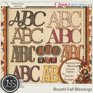 Bounti-Fall Blessings Alphabets