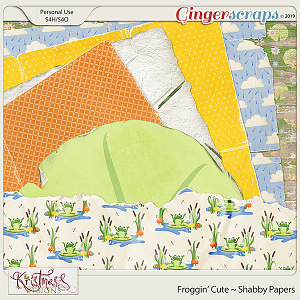 Froggin' Cute Shabby Papers