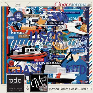 Armed Forces-Coast Guard-Kit by Memory Mosaic and Polka Dot Chicks