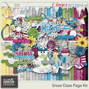 Snow Daze Page Kit by Aimee Harrison