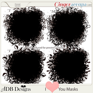 I Heart You Masks by ADB Designs