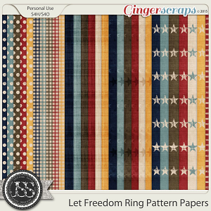 Let Freedom Ring Pattern Papers