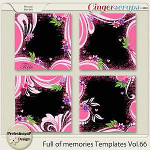 Full of memories Templates Vol.66