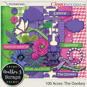 100 Acres THE DONKEY MINI KIT by Heather Z Scraps