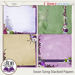 Swan Song Stacked Papers by ADB Designs